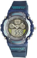 Cool Digital-analog Waterproof Dual Time Sport Wrist Watches for Boys Girls (Blue)