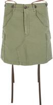 Junya Watanabe Slub Cotton-blend Mini Skirt - Army green