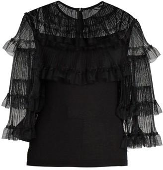 Giambattista Valli Tulle Cashmere & Silk Sweater