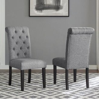 Evelin Tufted Upholstered Parsons Dining Chair Charlton Home Upholstery Color: Gray