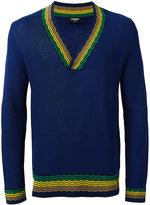 Fendi v-neck sweater - men - Cotton/Viscose - 48