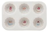 10 Strawberry Street Desserts Ceramic Cupcake Pan