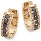 Effy Women's Yellow Diamond, Black Diamond and 14K Yellow Gold Hoop Earrings