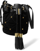 See by Chloe Vicki Suede And Leather Bucket Bag - Black