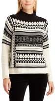 Chaps Women's Patterned Mock-Neck Sweater