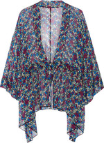 Anna Sui Floral-print silk-chiffon kimono jacket