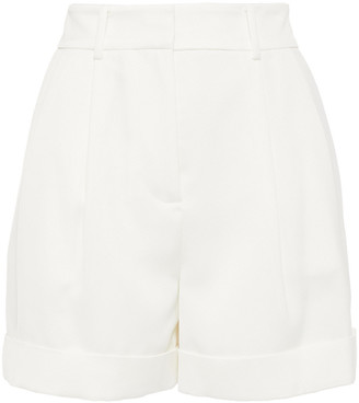 Diane von Furstenberg Shiana Pleated Satin-crepe Shorts