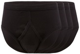 The Collection Big And Tall Pack Of Four Black Cotton Briefs