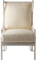 The Well Appointed House Berber Inspired Lattice Wing Back Arm Chair in White