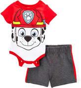 Children's Apparel Network Paw Patrol Red Bodysuit & Shorts - Infant