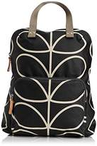 Orla Kiely Core Linear Tote Back pack, Black/Cream