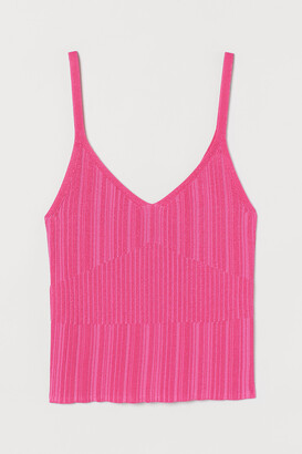 H&M Textured-knit Tank Top