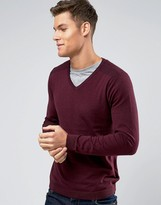 Burton Menswear V-neck Jumper