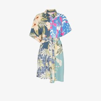 Rentrayage Hawaiian print belted cotton dress