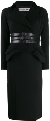 Christian Dior Pre-Owned 2000s triple belt skirt suit