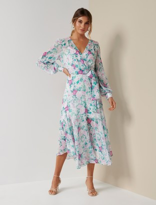 Ever New Gloria Wrap Midi Dress
