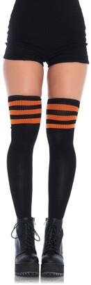 Leg Avenue Women's Athletic Ribbed Thigh-High Hosiery