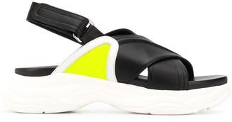 Pollini Chunky Heel Sandals