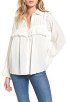 Moon River Women's Ruffle Cotton Blouse