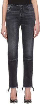 Unravel Black High-Waist Boy Skinny Jeans