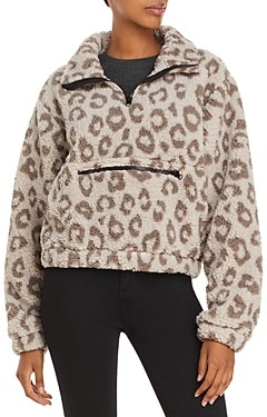 Aqua Athletic Leopard Print Sherpa Fleece Jacket - 100% Exclusive