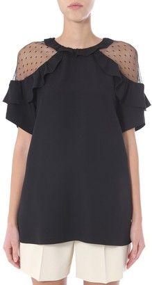 RED Valentino Lace Detail Blouse