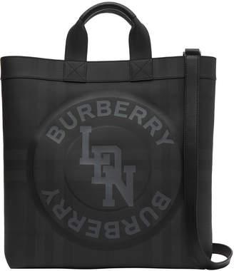 Burberry Men's Artie London Check Logo Tote Bag