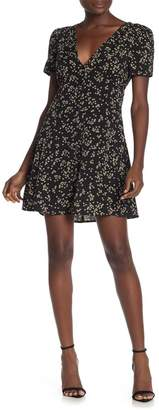 Cotton On Dotti Floral V-Neck Short Sleeve Mini Dress
