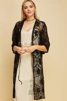 Entro Crochet Mesh Long-Lined-Kimono