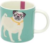 Joules Cuppa Mug - Aqua Pug