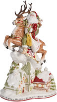 Fitz & Floyd Damask Holiday UP On The Housetop Santa Figurine