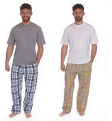 Mens Cargo Bay Pj Pyjama Set Short Cotton Blend Sleeve Loungwear