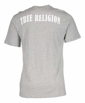 True Religion Men's U TR Logo Graphic Short Sleeve Crewneck Tee