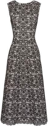 Alaia Wool-blend Jacquard Midi Dress
