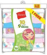 Hanes Girls` ComfortSoft-Pack No Ride Up Bikini, PA120B