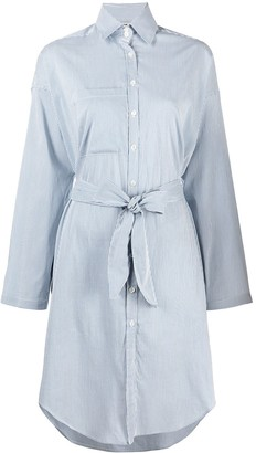 Semi-Couture Striped Shirt Dress