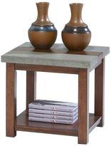 Progressive Cascade Nutmeg Birch / Cement Square Lamp Table