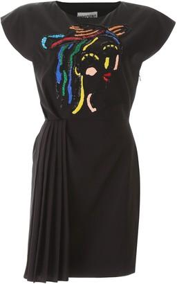 Moschino Pleated Mini Dress
