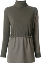Fabiana Filippi layered asymmetric turtleneck sweater