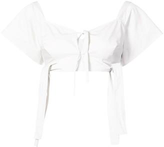 Isa Arfen shortsleeved cropped blouse