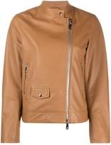 Peserico zipped leather jacket