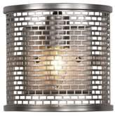 Varaluz Lit-Mesh Test 1 Light Wall Sconce - New Bronze
