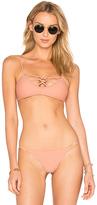 Issa de' mar Aloha Hina Bikini Top in Tan. - size L (also in M,S,XS)