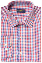 Club Room Estate Men's Classic-Fit Wrinkle Resistant Red Gingham Dress Shirt, Only at Macy's