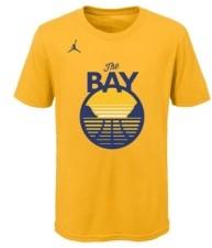 Jordan Youth Golden State Warriors Statement Wordmark T-Shirt