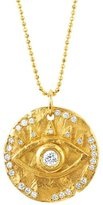 Logan Hollowell - New! 18K Diamond Eye Of Protection Coin Pendant