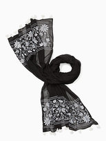 Kate Spade Otomi embroidery oblong scarf