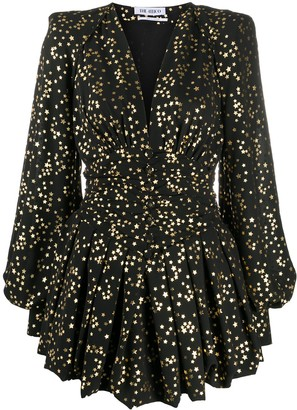 ATTICO Star-Print V-Neck Dress
