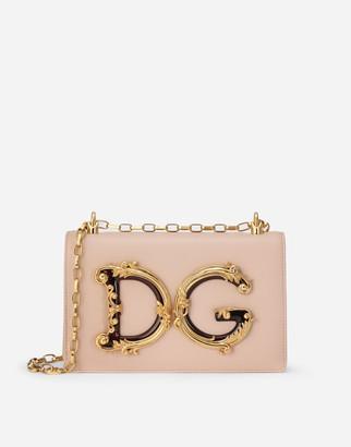 Dolce & Gabbana Nappa Leather Girls Shoulder Bag