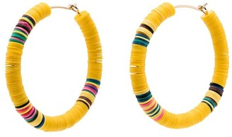 ALLTHEMUST Heishi 8 hoop earrings